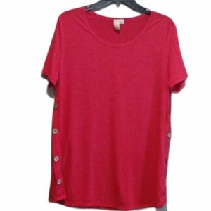 Misia Red Short Sleeve Top Size Large